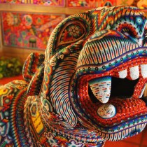 Huichol art - Beaded Jaguar
