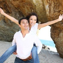 Couple At Cabo San Lucas Beach