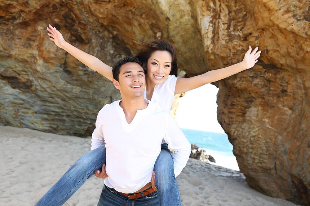 Couple At Cabo San Lucas Beach